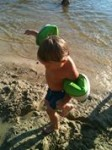 Rebel Toddler at the lake